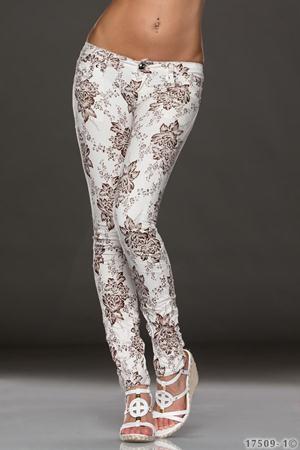 Pantaloni Floral Brown