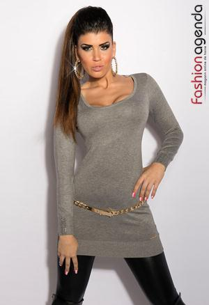 Pulover Back Chain Grey