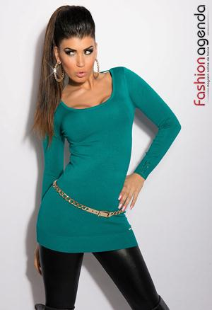 Pulover Back Chain Green