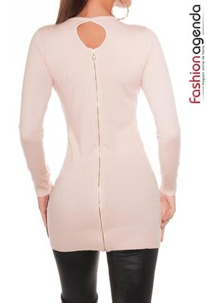 Pulover Backzip Peach