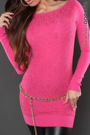 Pulover Lace Dream Fuchsia