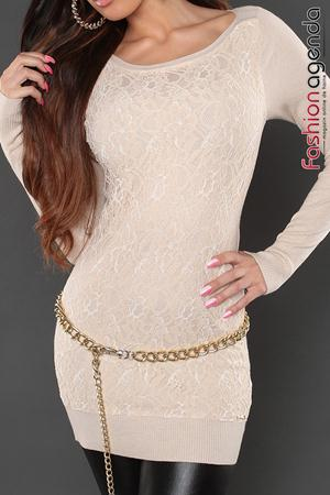 Pulover Lace Dream Crem