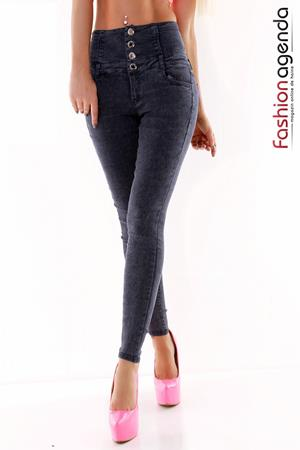 Jeans cu Talie Inalta Allude Navy