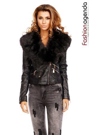 Jacheta din Piele Maddox Black