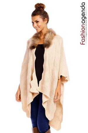 fashionagenda.ro Poncho Bello Bej