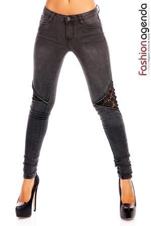 Jeans cu Dantela Rollo