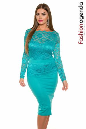 Rochie XXL Pearl 01 Turquoise