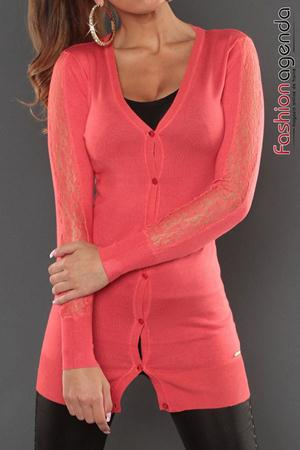 Cardigan Coral Sleeve Lace
