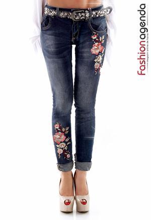 Jeans Floral Patch