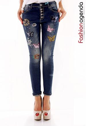 Jeans Sparkling Butterfly