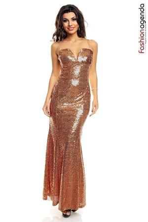 Rochie Prom Queen Bronz