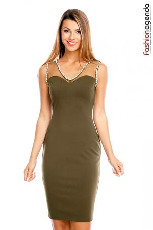 Rochie cu Perle Thriving Olive
