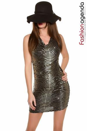 Rochie Ebony Gold