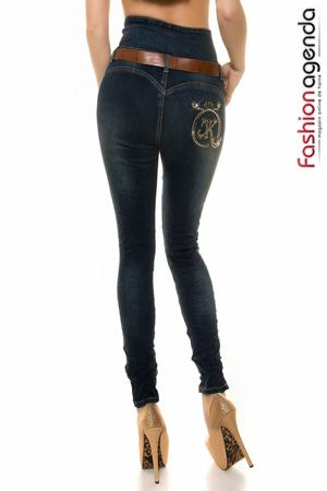 Jeans cu Talie Inalta Reynald