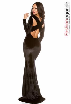 Rochie Soft Velvet Neagra