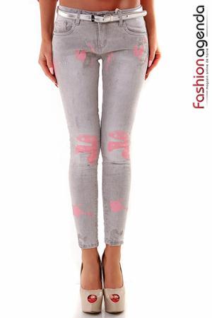 Jeans Pink Spots