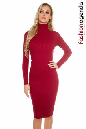 Rochie Midi Affection Bordo