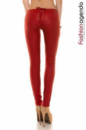 Pantaloni Delbert Rosii