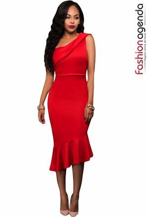 Rochie Midi Flirtatious Red