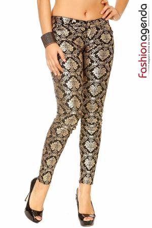 Pantaloni Gold cu Imprimeu